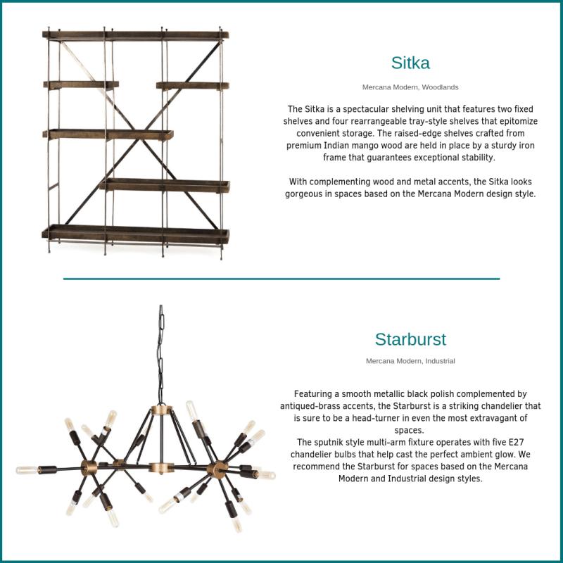 The Sitka Shelf and Starburst Chandelier