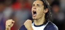 Joie de Edinson CAVANI - 18.08.2013 - Paris Saint Germain / Ajaccio - 2eme journee de Ligue 2 Photo: Amandine Noel / Icon Sport