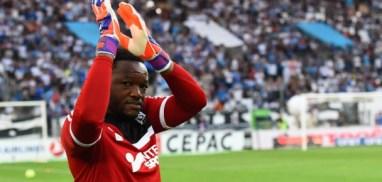 Steve Mandanda - 10.05.2015 - Marseille / Monaco - 36eme journee de Ligue 1 Photo : Alexandre Dimou / Icon Sport