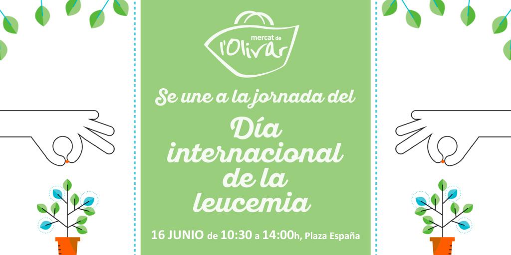 """Mercat de l'Olivar celebra el """"Día internacional de la leucemia"""" en favor de la Fundación Josep Carreras"""