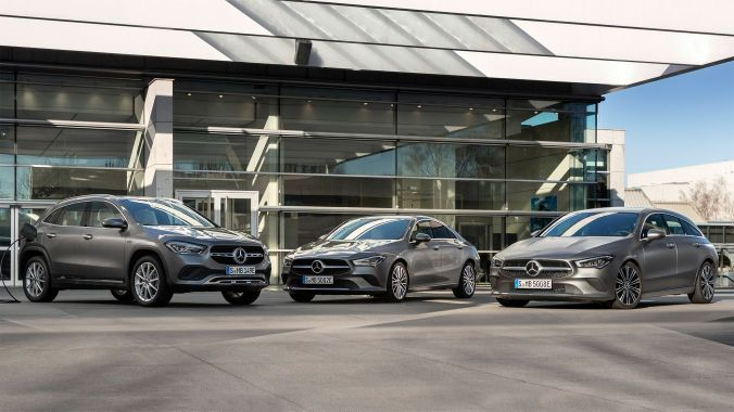 CLA Coupé, CLA Shooting Brake, and GLA now with EQ Power