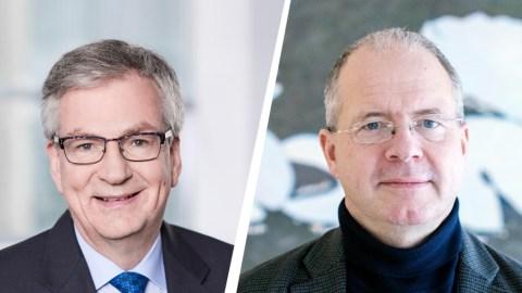 Volvo Group und Daimler Truck AG: Gründung eines Joint Ventures für die Serienproduktion von Brennstoffzellen Foto: Martin Daum, Vorsitzender des Vorstands der Daimler Truck AG und Mitglied des Vorstands der Daimler AG (links) mit Martin Lundstedt, Präsident und CEO der Volvo Group