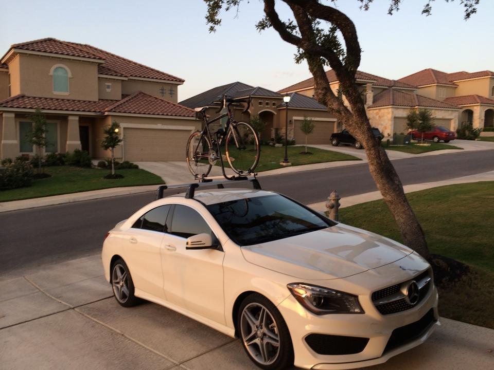 mercedes roof bike rack