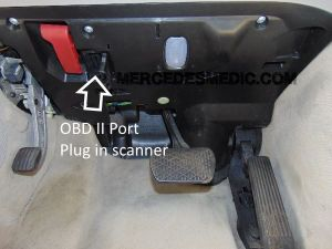 How to find the location of the OBD II OBD2 Port on any MercedesBenz – MB Medic