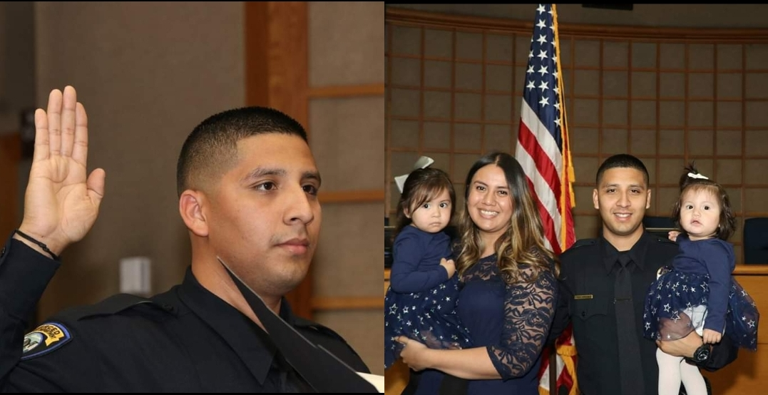 Merced Police Department newest officer sworn today