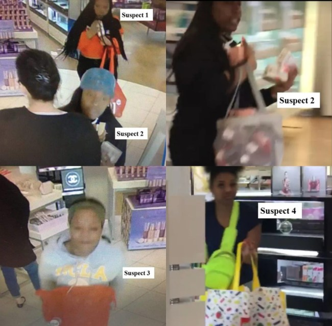 Suspect photos of Takeover theft at Ulta Beauty in Turlock
