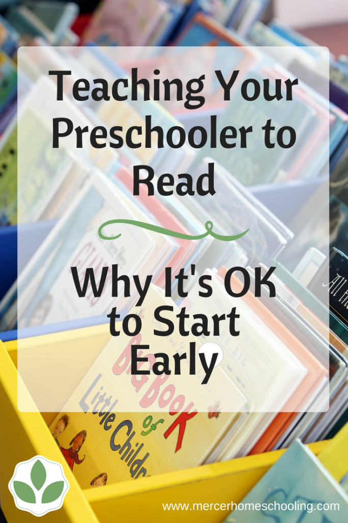 Teaching Your Preschooler to Read