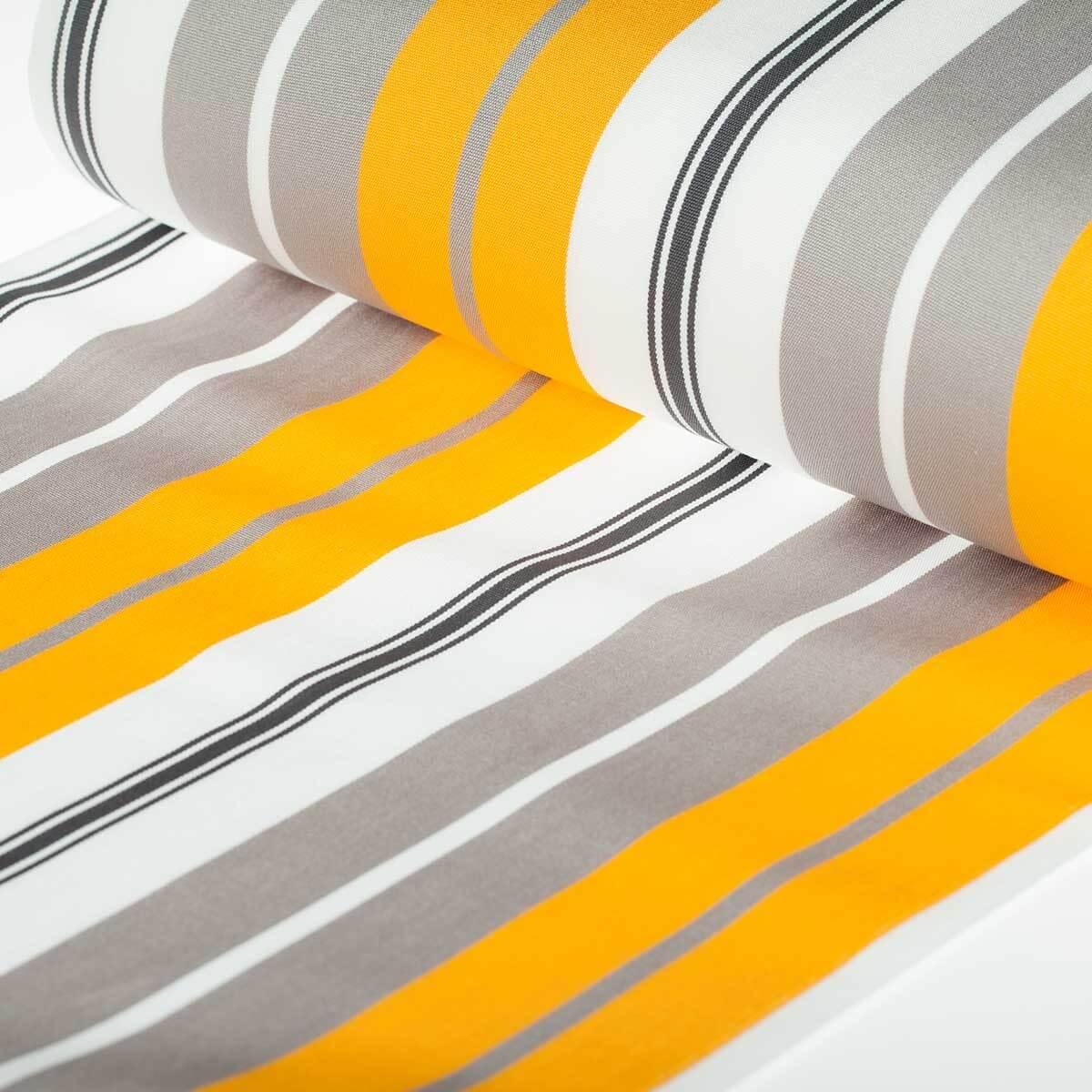 toile transat outdoor bastia 150cm x 43cm gris jaune