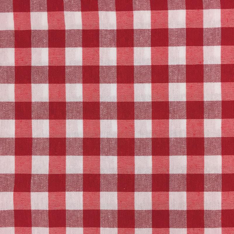 nappe tissu vichy grand carreau tissu au metre vichy rouge mercerine