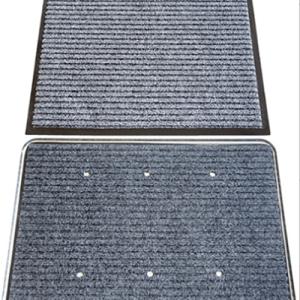 alfombra desinfectante + secado gris