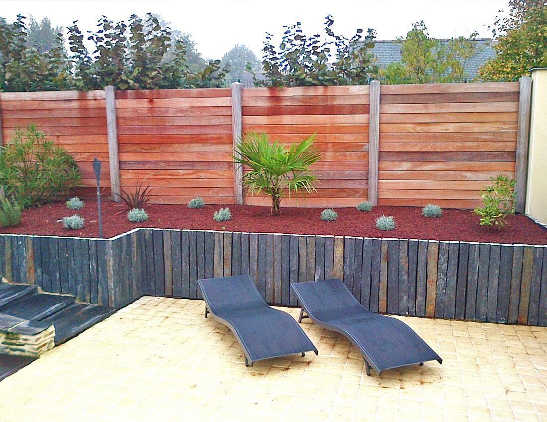 Am nagement et plantations en bordure de piscine mercier for Bordure per piscine