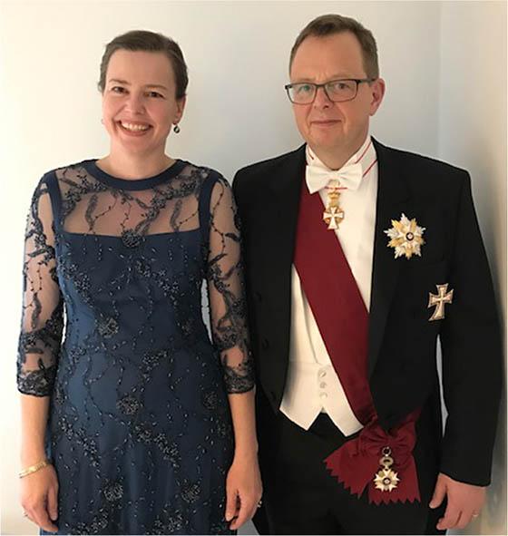 Dorthe Mikkelsen at royal gala
