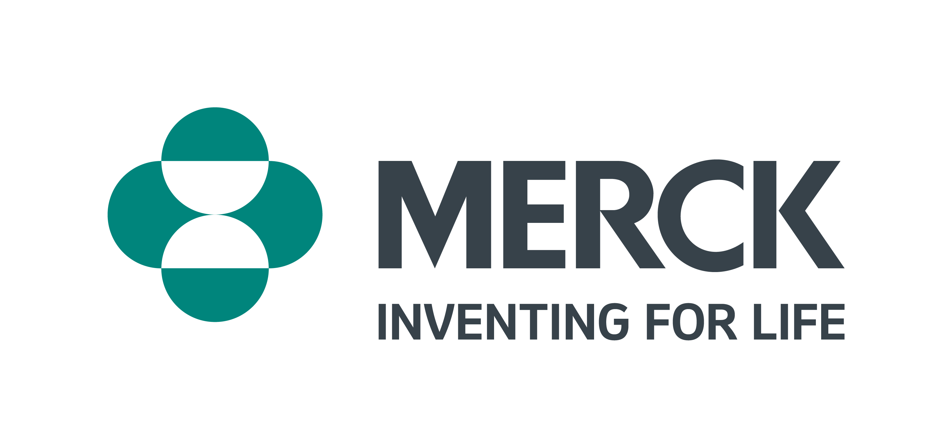 """Logo with green image and the words """"Merck - Inventing for Life"""""""