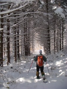 winter, snow, Vermont, snowshoeing