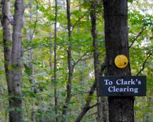 clark clearing sign cabin vermont