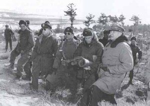 General MacArthur visits the front