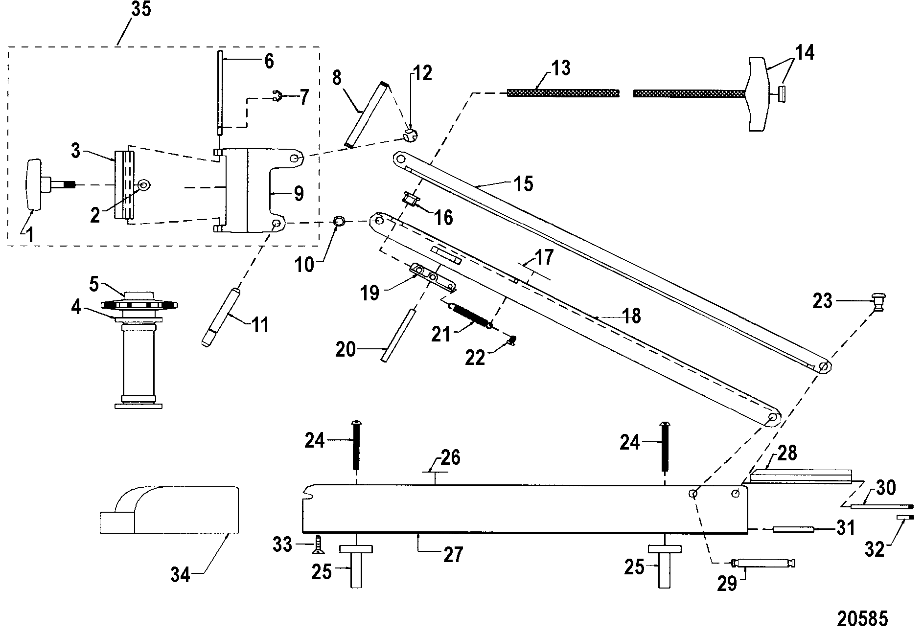 Motorguide Gator Mount Parts Diagram