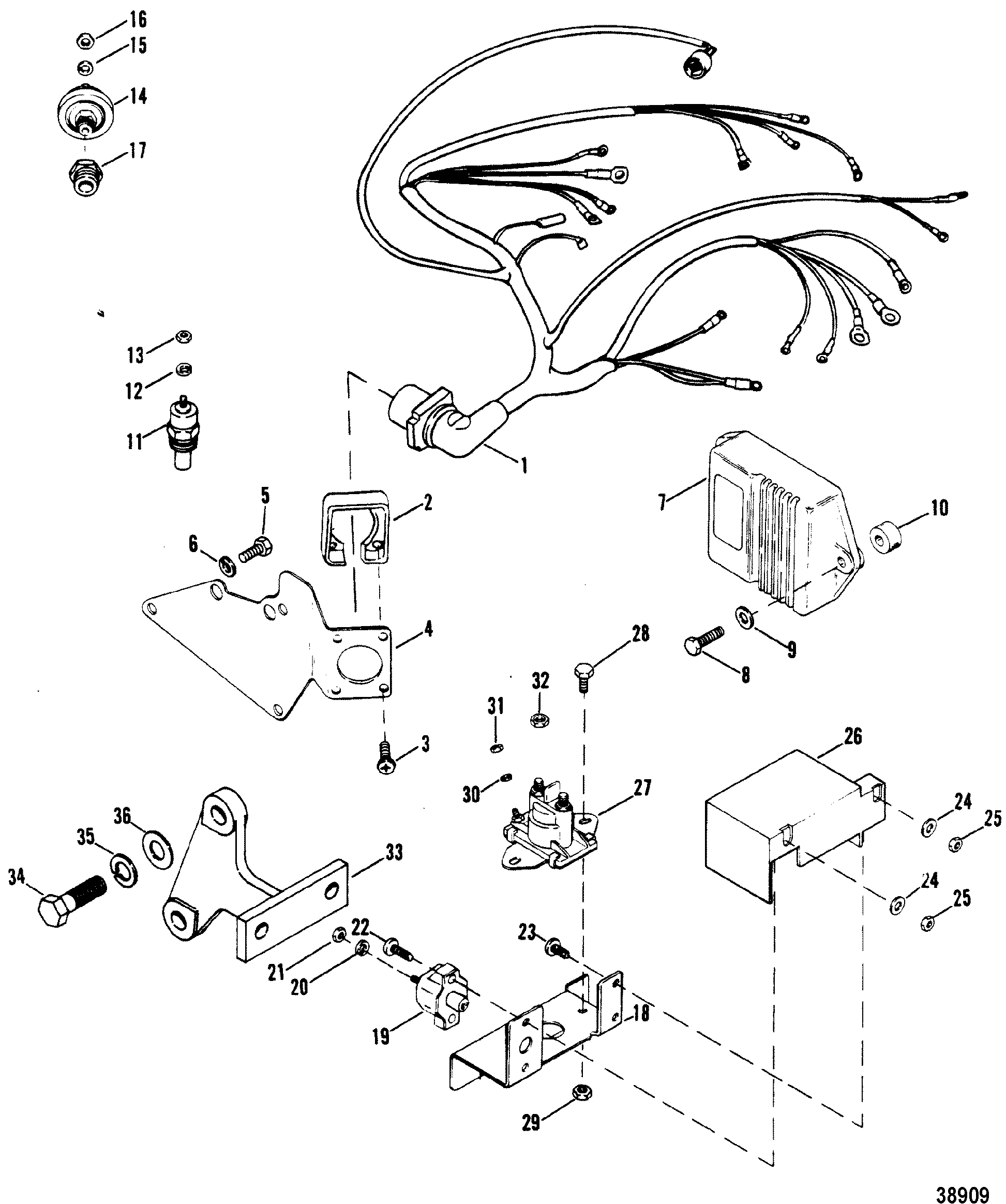 Wiring harness electrical and ignition