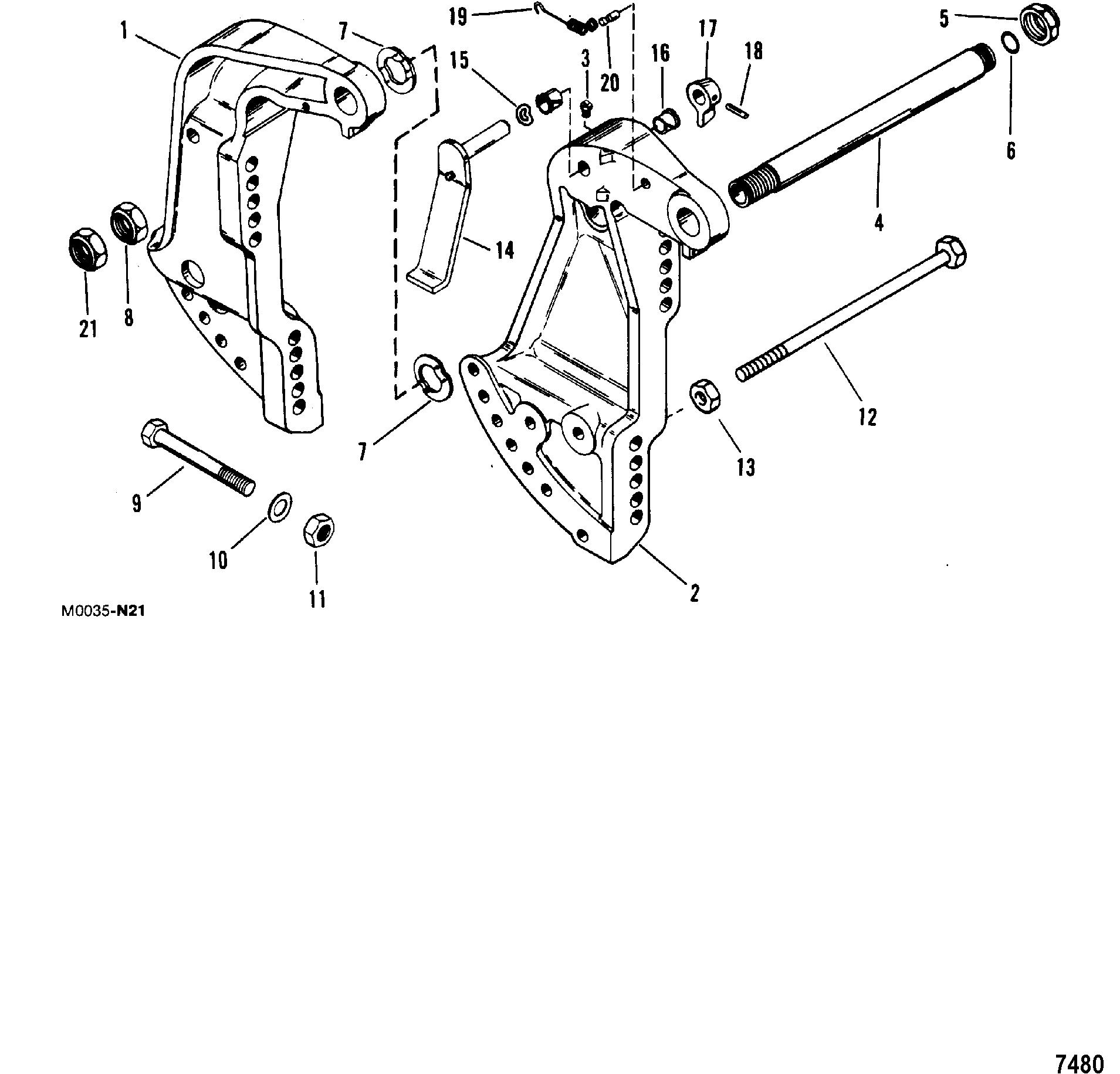 Mariner 45 4 Cyl Amp Up