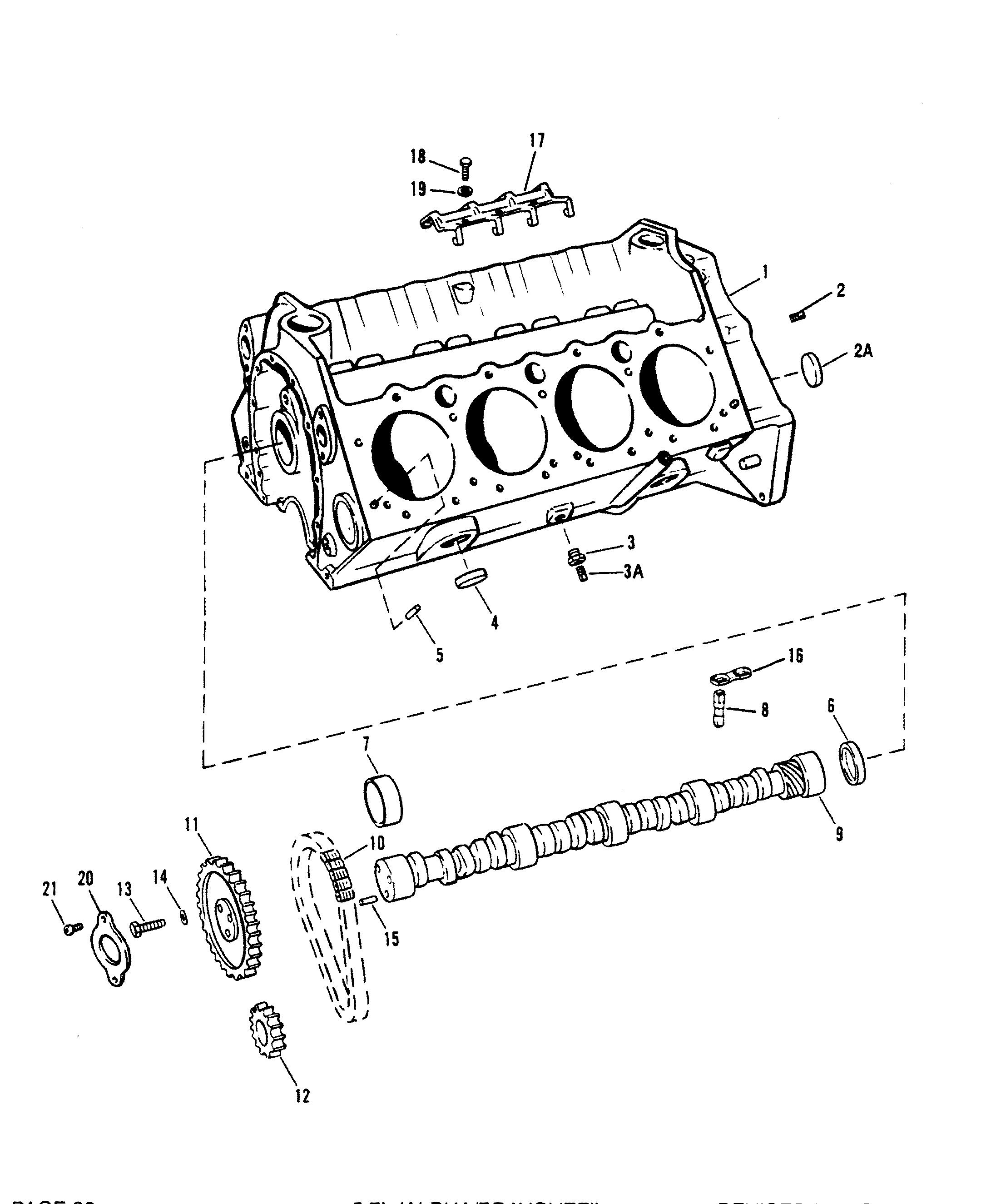 Mercruiser 5 7l Alpha Efi Tbi Gm 350 V 8 0f Thru