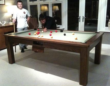 Dining Table Pool Tables UK Manufacturer Oak Walnut TeakAsh Or Cherry