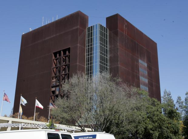 """The County Administration Building located at 70 West Hedding Street. It is known as """"the rusty bucket."""" (Karen T. Borchers/Mercury News)"""