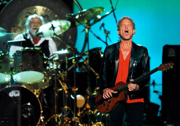 NEW YORK - MARCH 19: Mick Fleetwood (R) and Lindsey Buckingham of Fleetwood Mac perform at Madison Square Garden March 19, 2009 in New York City. (Photo by Rob Loud/Getty Images)