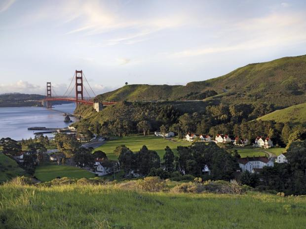 On a clear day you can see forever: The view from above Cavallo Point.