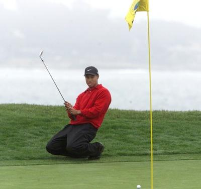 Image result for pebble beach tiger woods