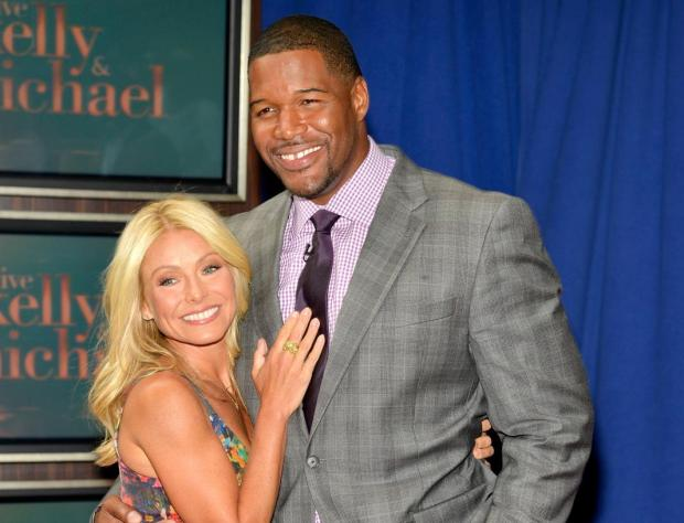 Kelly Ripa and Michael Strahan appear at Lincoln Square on September 4, 2012 in New York City.