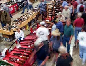 1999 photograph: The Great Western Gun Show in Pomona, Calif., before it was ousted by a local ordinance. (AP Photo/Mark J. Terrill)