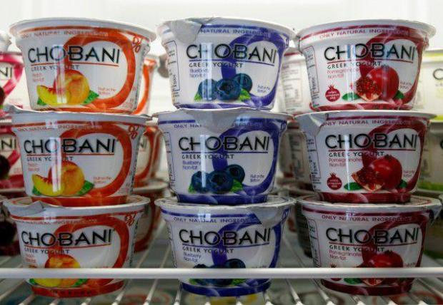 This Jan. 13, 2012 photo shows cups of Chobani Yogurt at Chobani Greek Yogurt in South Edmeston, N.Y.
