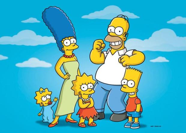 "FILE - In this undated publicity photo released by Fox shows characters from the animated series, ""The Simpsons,"" from left, Maggie, Marge, Lisa, Homer and Bart. The FXX network plans a marathon telecast this summer of episodes of The Simpsons _ all 552 of them consecutively. The network said Wednesday, April 9, 2014, that the marathon starts on Aug. 21 and will continue into Labor Day. FXX programming chief Chuck Saftler said it coincides with the network s purchase of rerun rights and the development of an app that gives access to every episode of the long-running animated series. (AP Photo/Fox, File)"