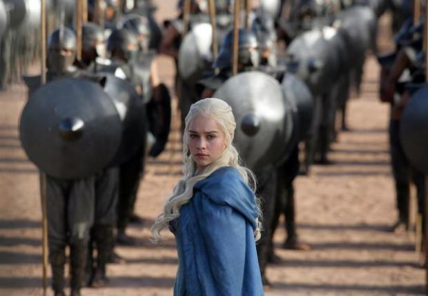 "FILE - This file publicity image released by HBO shows Emilia Clarke as Daenerys Targaryen in a scene from ""Game of Thrones."" HBO plans to offer a stand-alone version of its popular video-streaming service, CEO Richard Plepler said at an investor meeting at parent Time Warner Inc. on Wednesday, Oct. 15, 2014. (AP Photo/HBO, Keith Bernstein, File)"