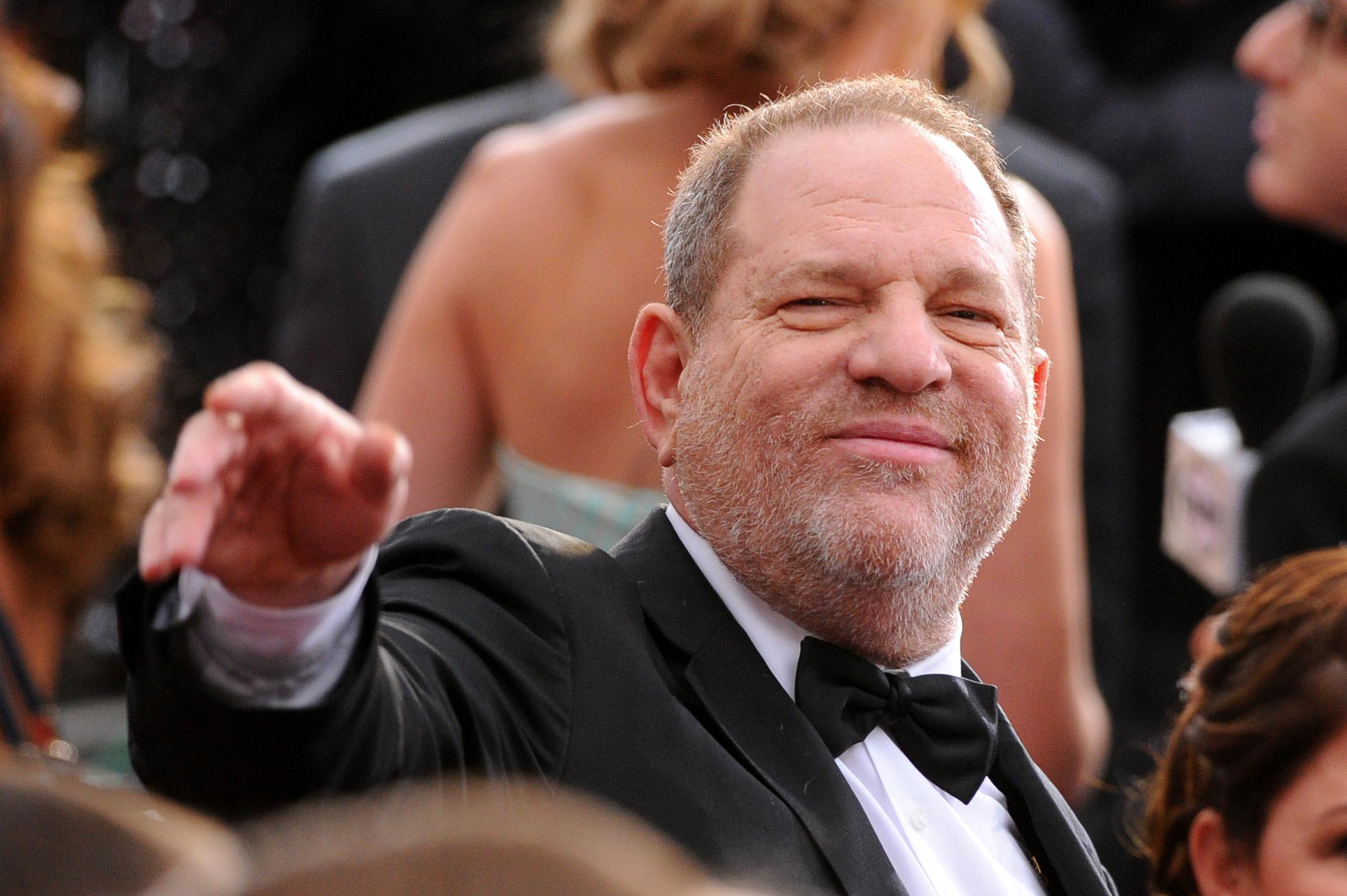 Harvey Weinstein arrives at the Oscars on Sunday Feb. 22 2015 at the Dolby Theatre in Los Angeles