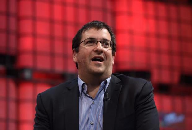 FILE Dave Goldberg, Husband of Sheryl Sandberg And Silicon Valley Entrepreneur Has Died Suddenly Aged 47 DUBLIN, IRELAND - NOVEMBER 05: In this handout image supplied by Sportsfile, Dave Goldberg, CEO of Survey Monkey, speaks on the centre stage during Day 2 of the 2014 Web Summit at the RDS on November 5, 2014 in Dublin, Ireland. (Photo by Stephen McCarthy / SPORTSFILE via Getty Images)
