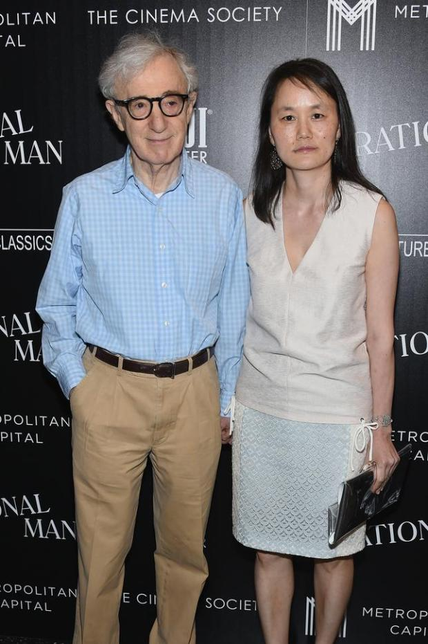 "Woody Allen and Soon-Yi Previn attend Sony Pictures Classics ""Irrational Man"" premiere hosted by Fiji Water, Metropolitan Capital Bank and The Cinema Society on July 15, 2015 in New York City."