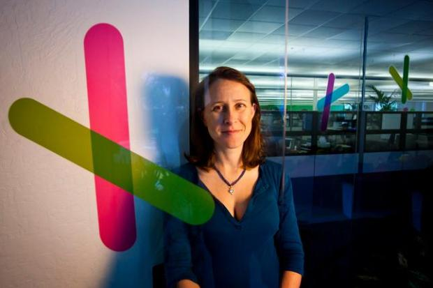 "Co-founder and CEO of 23andMe Anne Wojcicki says the company will have ""one of the largest databases out there, if not the largest"" and that it will enable her scientists to do ""a tremendous amount of discovery"" into the possible genetic causes of ailments like Parkinson's disease. (Dai Sugano/Staff)"