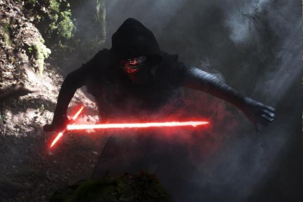 Adam Driver as Kylo Ren in 'Star Wars: The Force Awakens.' (David James/Lucasfilm)