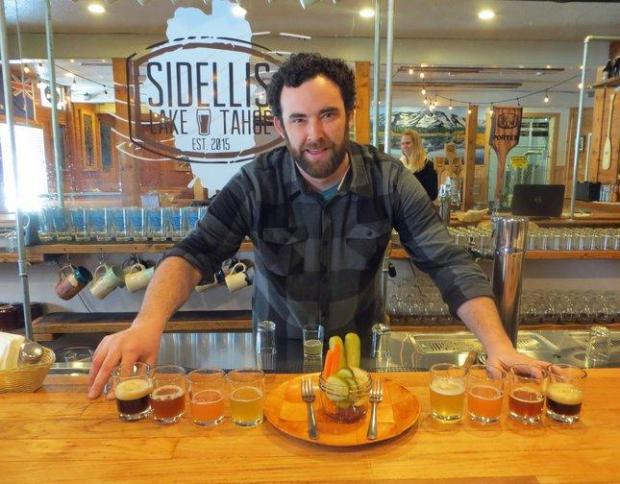 Co-owner Chris Sidell opened his Sidellis Lake Tahoe Brewery in 2016. The new South Lake Tahoe craft brewery is popular with locals and tourists alike. (Courtesy of Janet Fullwood)