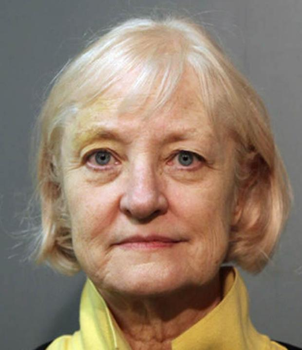 This Wednesday, Feb. 17, 2016 photo provided by the Chicago Police Department shows 64-year-old Marilyn Hartman. Hartman, who has a history of sneaking aboard airplanes, was arrested again Wednesday at Chicago's O'Hare International Airport. She is charged with felony probation violation and misdemeanor criminal trespass. (Chicago Police Department via AP)