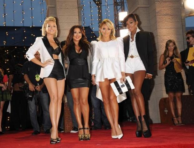 "SCOTT GRIES/ASSOCIATED PRESS ARCHIVESDanity Kane -- from left, Shannon Bex, Andrea Fimbres, Aubrey O'Day and Dawn Richards -- were created by Sean ""diddy"" Combs as part of MTV's ""Making the Band"" reality TV show. The band's fame went beyond the show, as Danity Kane released two consecutive No. 1 albums."