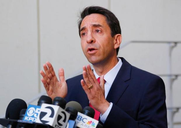 Santa Clara County District Attorney, Jeff Rosen, speaks at a press conference to announce new legislation on rape penalties at the Palo Alto Courthouse in Palo Alto, Calif., on Wednesday, June 22, 2016. Proposed Assembly Bill 2888 would make stricter penalties for sexual assault on an unconscious person. (Photo by Gary Reyes/Bay Area News Group)