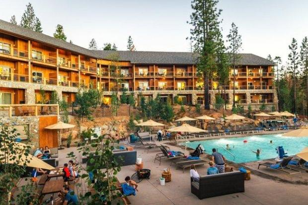 Open since 2016, the Rush Creek Lodge in Groveland is the first new resort to open in the Yosemite region in 25 years. The modern-rustic property includes a giant saltwater pool, zipline for kids and a grand lodge with tavern and restaurant. (Kim Carroll Photography)