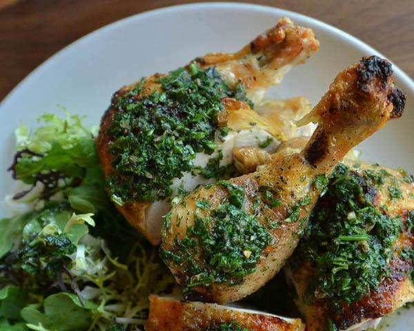 Celebrity chef Jonathan Waxman is known for his JW chicken with salsa verde, a dish that wows the crowds at his new Waxman's Restaurant and Cafe in San Francisco. (Dan Honda/Bay Area News Group)