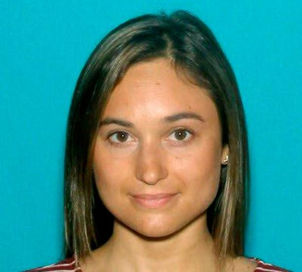 This undated driver license photo released by the Worcester County District Attorney's Office shows Vanessa Marcotte, of New York, whose body was found Sunday night, Aug. 7, 2016, in the woods about a half-mile from her mother's home in the town of Princeton, Mass., about 40 miles west of Boston. (Worcester County District Attorney's Office via AP)