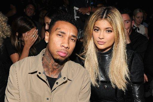 Tyga and Kylie Jenner attend the Alexander Wang Spring 2016 fashion show during New York Fashion Week at Pier 94 on September 12, 2015 in New York City.
