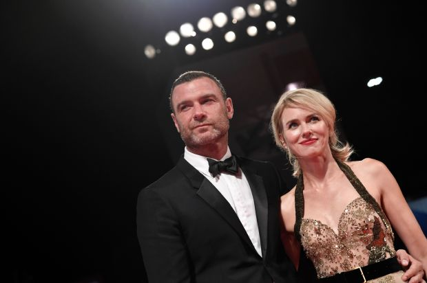 """(FILES) This file photo taken on September 2, 2016 shows actors Liev Schreiber and Naomi Watts posing on the red carpet before the premiere of the movie """"The Bleeder"""" presented in competition at the 73rd Venice Film Festival at Venice Lido. Naomi Watts and Liev Schreiber announced their separation on September 27, 2016. / AFP PHOTO / TIZIANA FABITIZIANA FABI/AFP/Getty Images"""