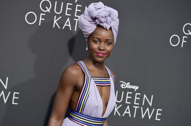 "Lupita Nyong'o attends the LA Premiere of ""Queen of Katwe"" held at the El Capitan Theatre on Tuesday, Sept. 20, 2016, in Los Angeles. (Photo by Richard Shotwell/Invision/AP)"