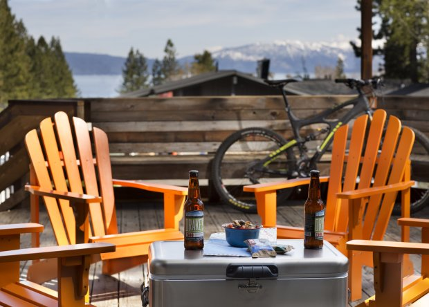 The new Basecamp in Tahoe City offers lake views along with the s'mores and craft beer. (Photo courtesy of Paul Dyer)